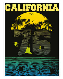 Premium poster  California beach