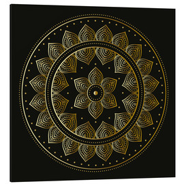 Aluminium print  Mandala on black