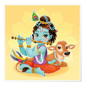 Premium poster  Baby Krishna - Kidz Collection