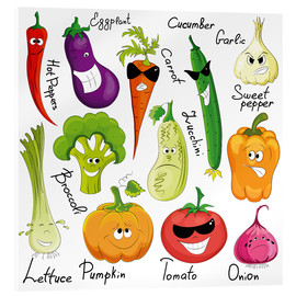 Acrylic glass  Funny vegetables - Kidz Collection