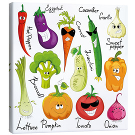 Canvas print  Funny vegetables - Kidz Collection