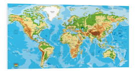 Foam board print  Map of the world