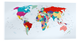 Acrylic print  World Map, 2003 - Kidz Collection