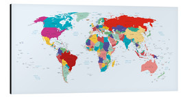 Aluminium print  World Map, 2003 - Kidz Collection
