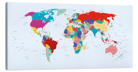 Canvas print  World Map, 2003 - Kidz Collection