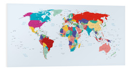 Foam board print  World Map, 2003 - Kidz Collection