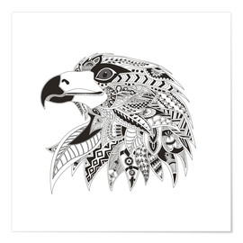 Premium poster  Head Of An Eagle
