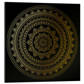 Acrylic print  Mandala on Black