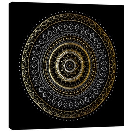 Canvas  Mandala Gold/Silver