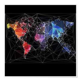 Premium poster  Triangular World Map