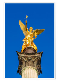 Premium poster Angel of peace in Munich