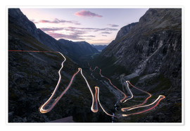 Premium poster Trollstigen Pass Road Norway