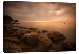 Canvas print  Lake Garda Bardolino Sunset Italy - Filtergrafia
