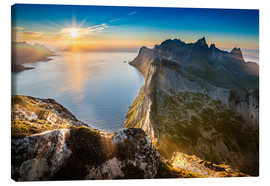 Canvas  View from Beautiful Segla Mountain, Senja, Norway - Markus Ulrich