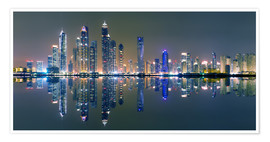 Premium poster Dubai sky light panorama