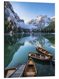 Aluminium print  Early morning on Lake Braies, Dolomites - Achim Thomae