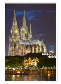 Premium poster  cathedral of cologne - Dieterich Fotografie