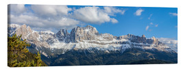 Canvas print  Rosengarten group, Dolomites, South Tyrol, Italy - Gerhard Wild