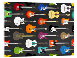Acrylic print  Guitar Pattern - Kidz Collection