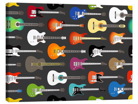 Canvas  Guitar pattern - Kidz Collection
