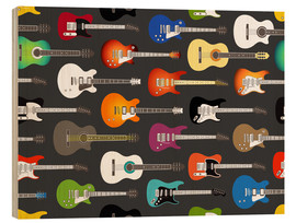Wood print  Guitar Pattern - Kidz Collection