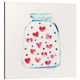 Aluminium print  Love in a glass - Kidz Collection