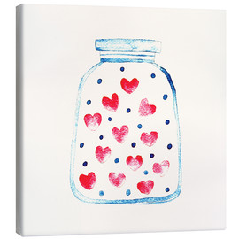 Canvas print  Love in a glass - Kidz Collection