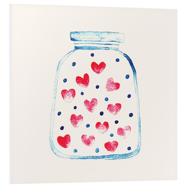 Foam board print  Love in a glass - Kidz Collection