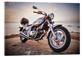 Acrylic print  Motorbike by the sea