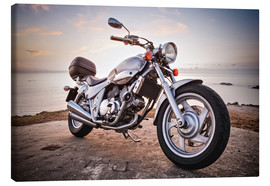Canvas print  Motorbike by the sea