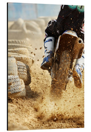 Aluminium print  Motocross bike racing