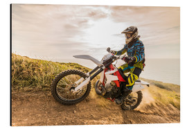 Alu-Dibond  Enduro rider on the coast