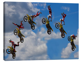 Canvas print  Stunt Biker Freestyle