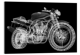 Acrylic print  Motorcycle, 3d model