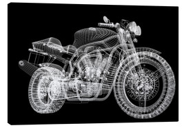 Canvas print  Motorcycle, 3d model