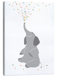 Canvas  Confetti elephant - Sandy Lohß