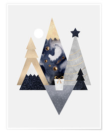 Premium poster Christmas Mountains