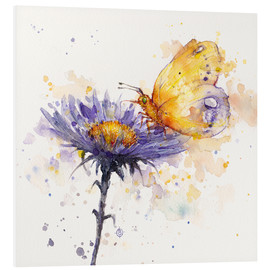 Foam board print  Flowers & flutters (butterfly & flower) - Sillier Than Sally