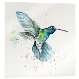 Acrylic print  Hummingbird flurry - Sillier Than Sally