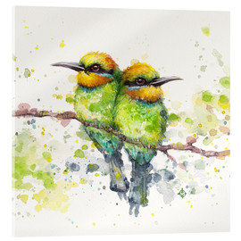 Acrylic print  Family (Rainbow Bee Eaters) - Sillier Than Sally