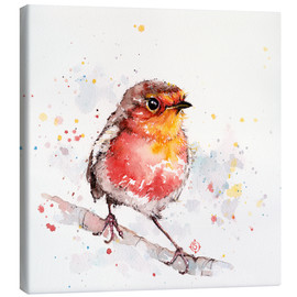 Canvas  Adventure Awaits (Robin Red Breast) - Sillier Than Sally