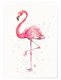 Poster  A Flamingos Fancy - Sillier Than Sally