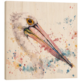Wood print  Pelicans About - Sillier Than Sally