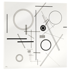 Acrylic print  Concentric Circles - Wassily Kandinsky