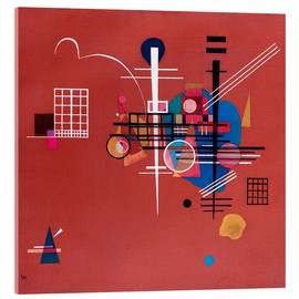 Acrylic print  dull red - Wassily Kandinsky