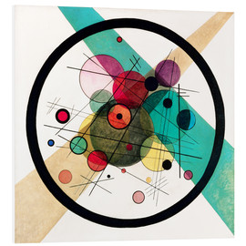 Foam board print  Circles in a circle - Wassily Kandinsky