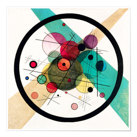 Premium poster  Circles in a circle - Wassily Kandinsky