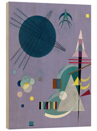 Wood print  Violet Green - Wassily Kandinsky