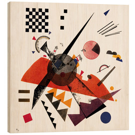 Wood print  Orange - Wassily Kandinsky