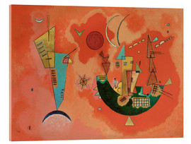 Acrylic print  With and against - Wassily Kandinsky